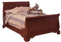 cherry sleigh bed
