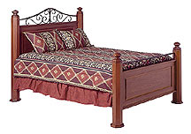 cherry bed octagonal