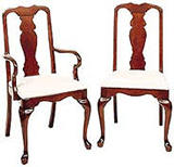 Cherry Queen Anne Dining Chairs