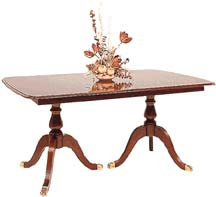 cherry double pedestal dining table